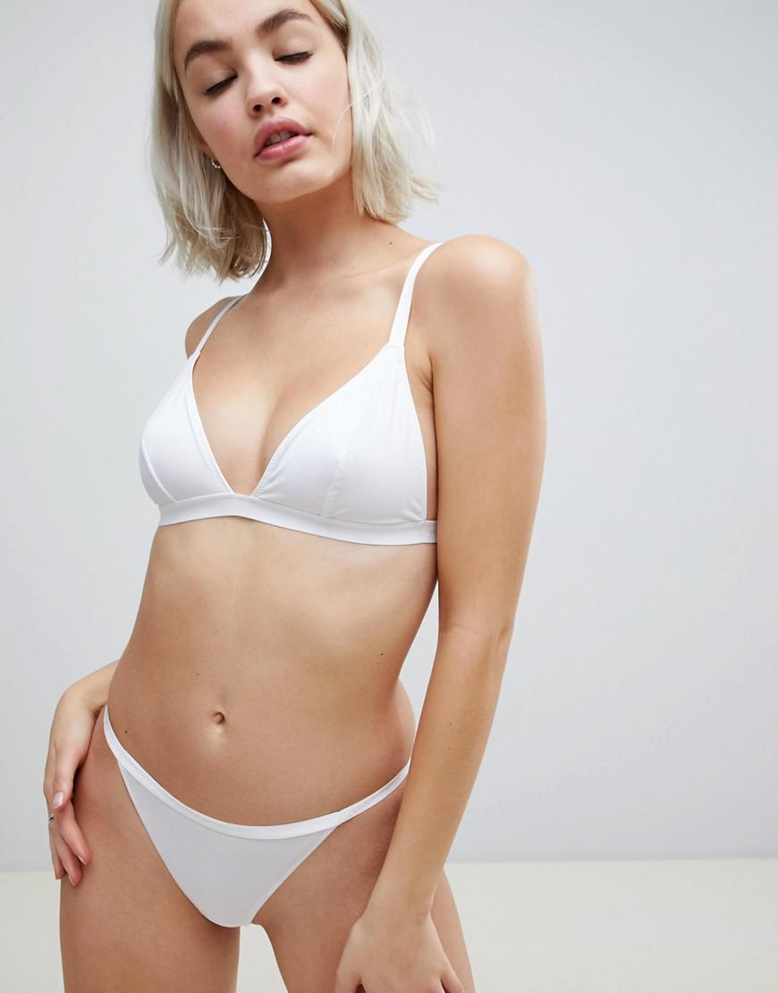 874bc02b69 Lyst - ASOS Recycled Microfibre Thong in White