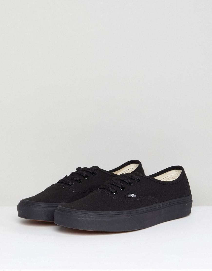 e968b5c97f7 Vans Authentic Trainers In All Black in Black - Lyst