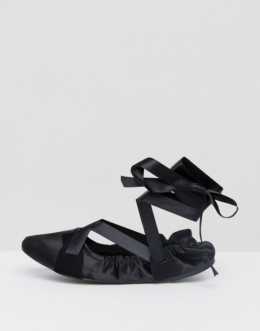 Lost Ink Black Ribbon Tie Ballet Shoes cheap finishline outlet store Locations authentic cheap online VjTee7uoN