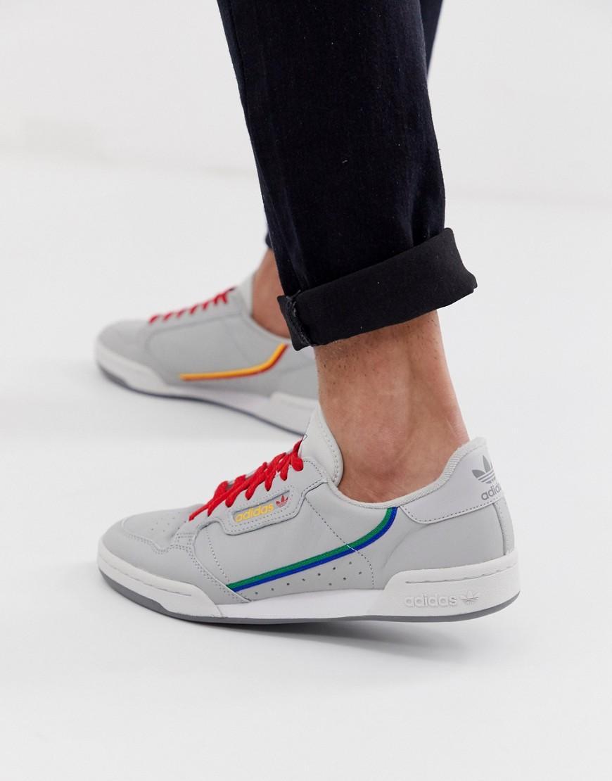 buy popular f4748 b9ca1 adidas Originals. Mens Gray Continental 80 Trainers Grey Cg7128
