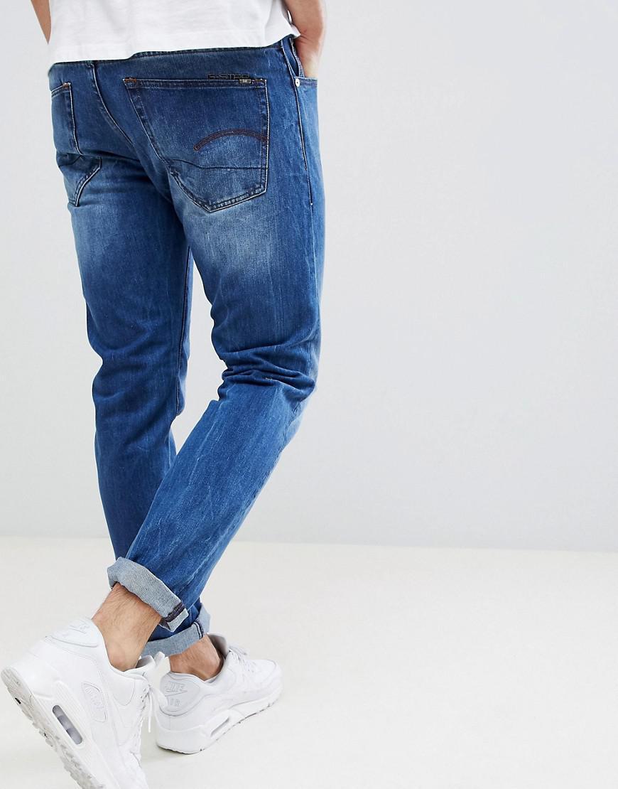 7b7c88e51e7057 G-Star RAW 3301 Slim Fit Jeans in Blue for Men - Lyst