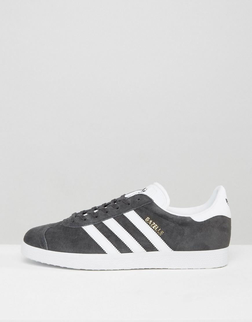7dae858b093063 adidas Originals Gazelle Trainers In Grey Bb5480 in Gray for Men - Lyst
