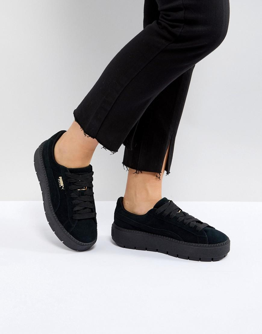 a607e95e3740 Lyst - PUMA Platform Trace Triple Black Sneakers in Black