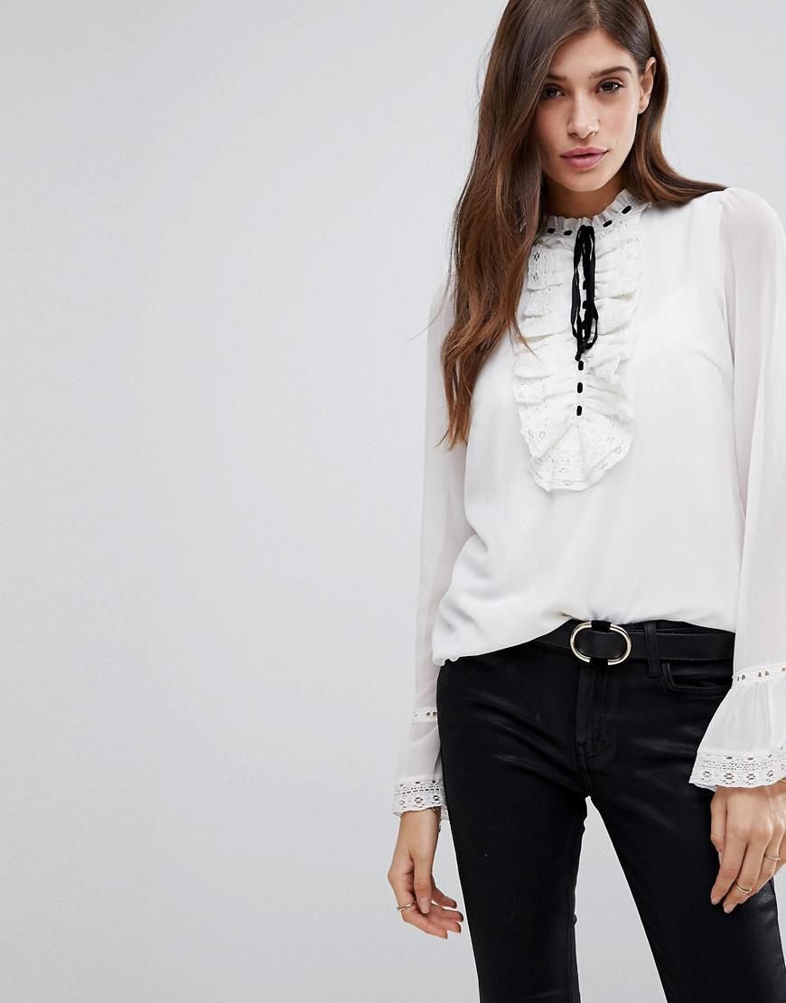 Jacquard Blouse With Frogties - Black Vero Moda Get Authentic For Sale Best Prices Sale Online bRKzmk