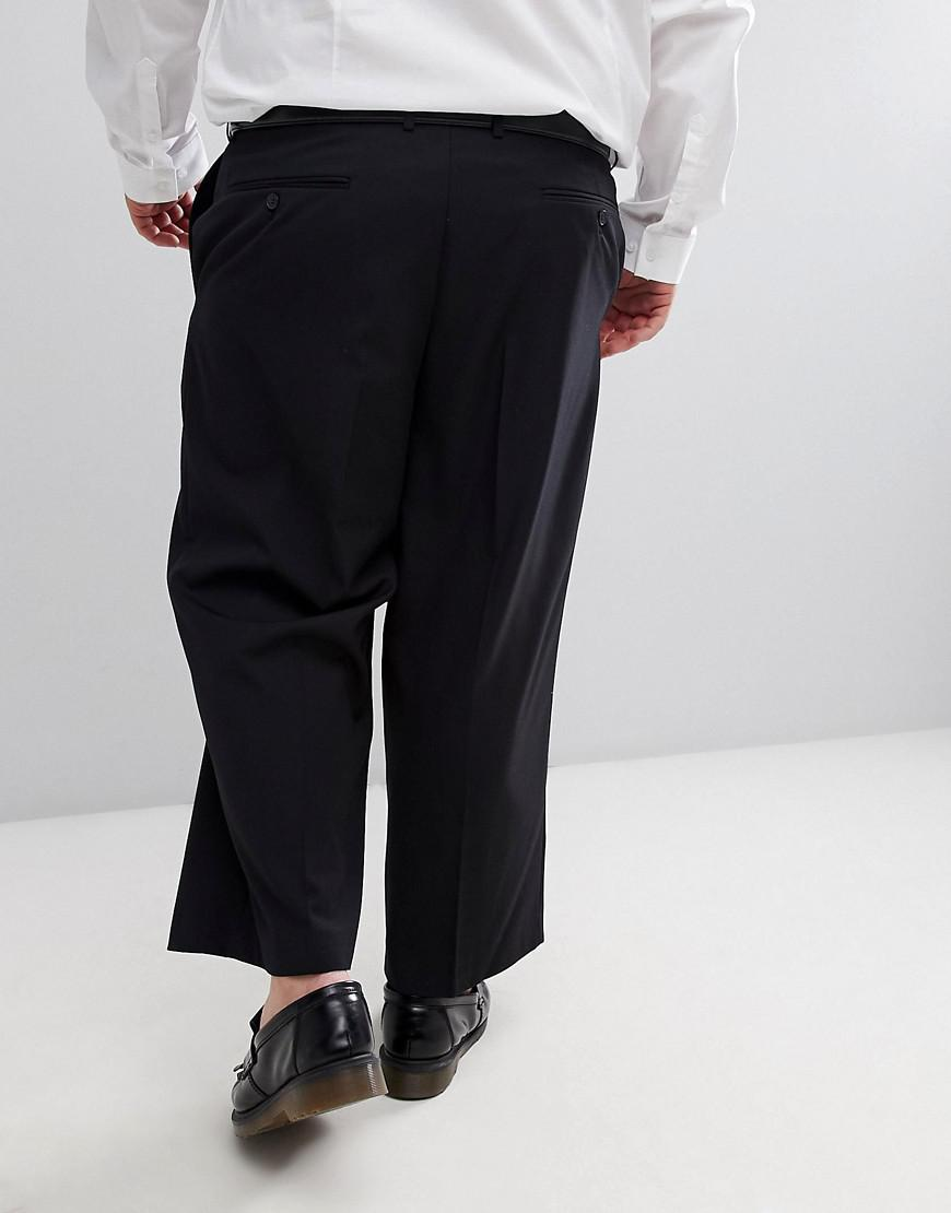 PLUS Wide Leg Cropped Suit Trouser In Black - Black French Connection CxN11