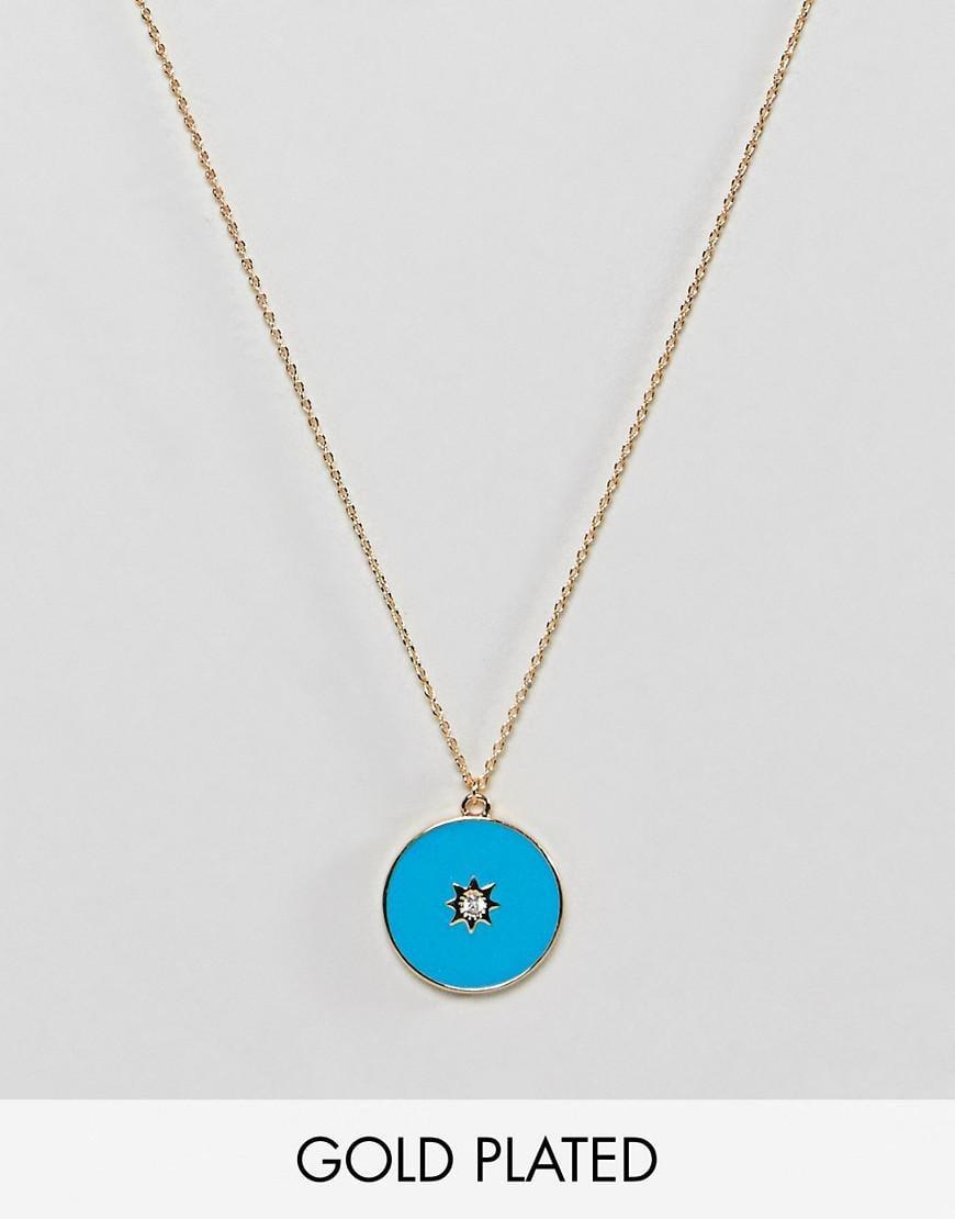 Gold Plated Opal Stone Ditsy Necklace - Gold Orelia U1F70k7Wdm