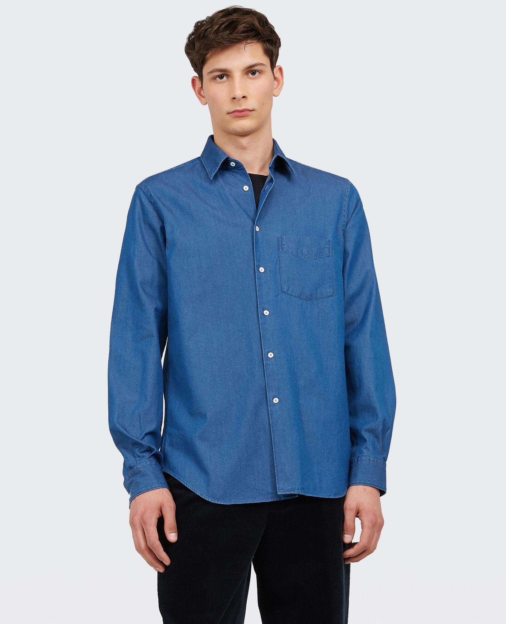 official shop hot new products dirt cheap Aspesi Indigo Cotton Shirt in Blue for Men - Lyst