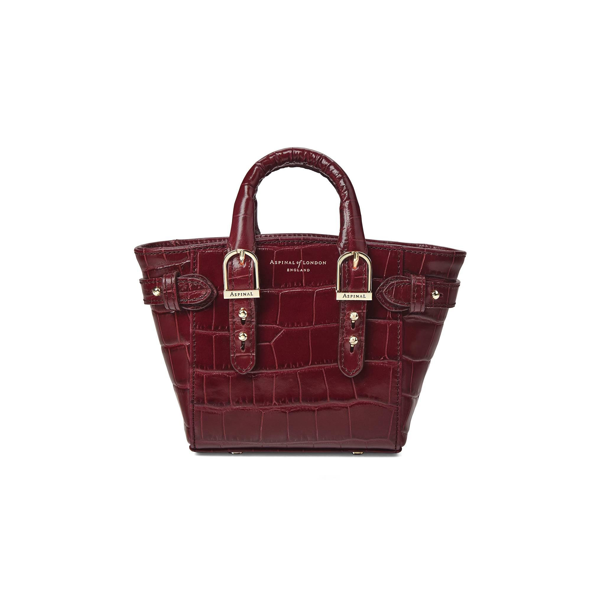 1367686ac6 Aspinal The Micro Marylebone Tote in Red - Lyst