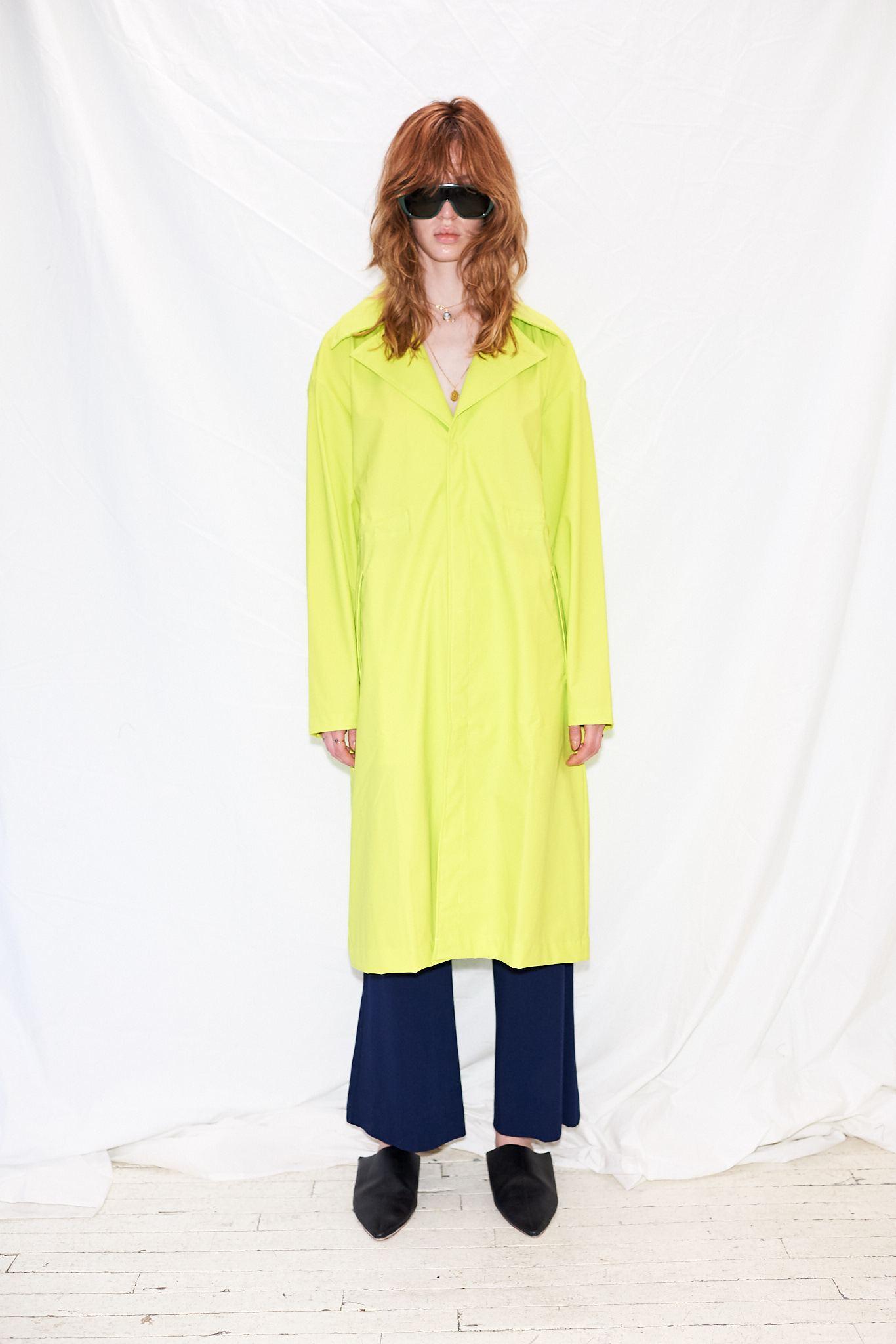 653440f3 Rains Neon Yellow Ltd Curve Coat in Yellow - Lyst