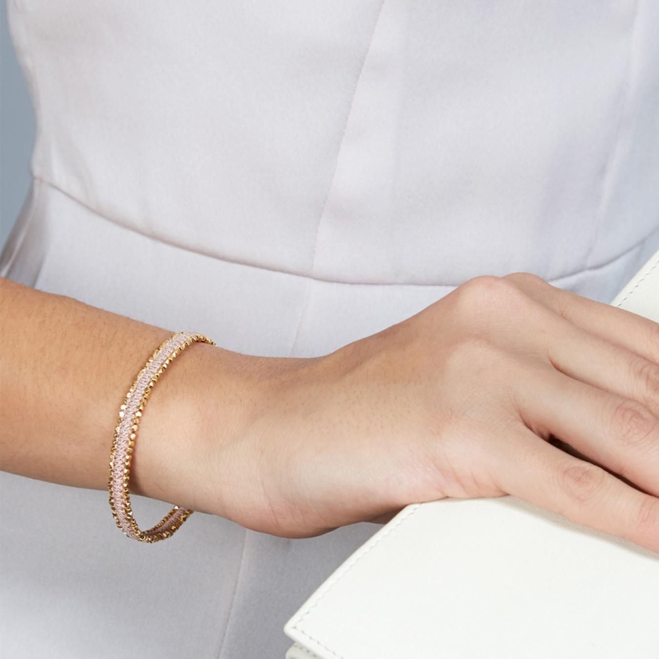 d353b929c90 Astley Clarke Peach Blush Nugget Biography Bracelet in Metallic - Lyst