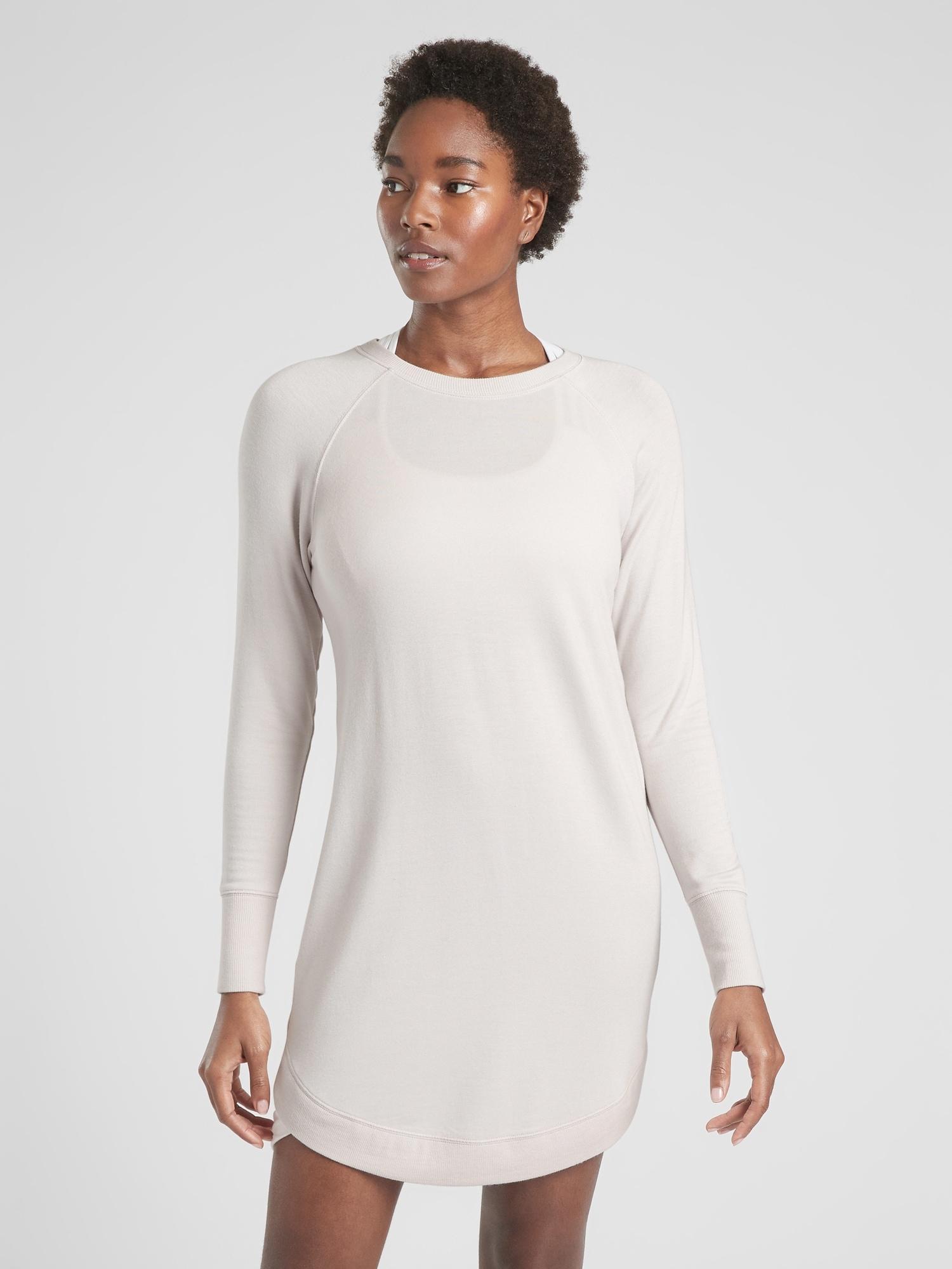 e21c7c19a54 Lyst - Athleta Mindset Sweatshirt Dress in Gray