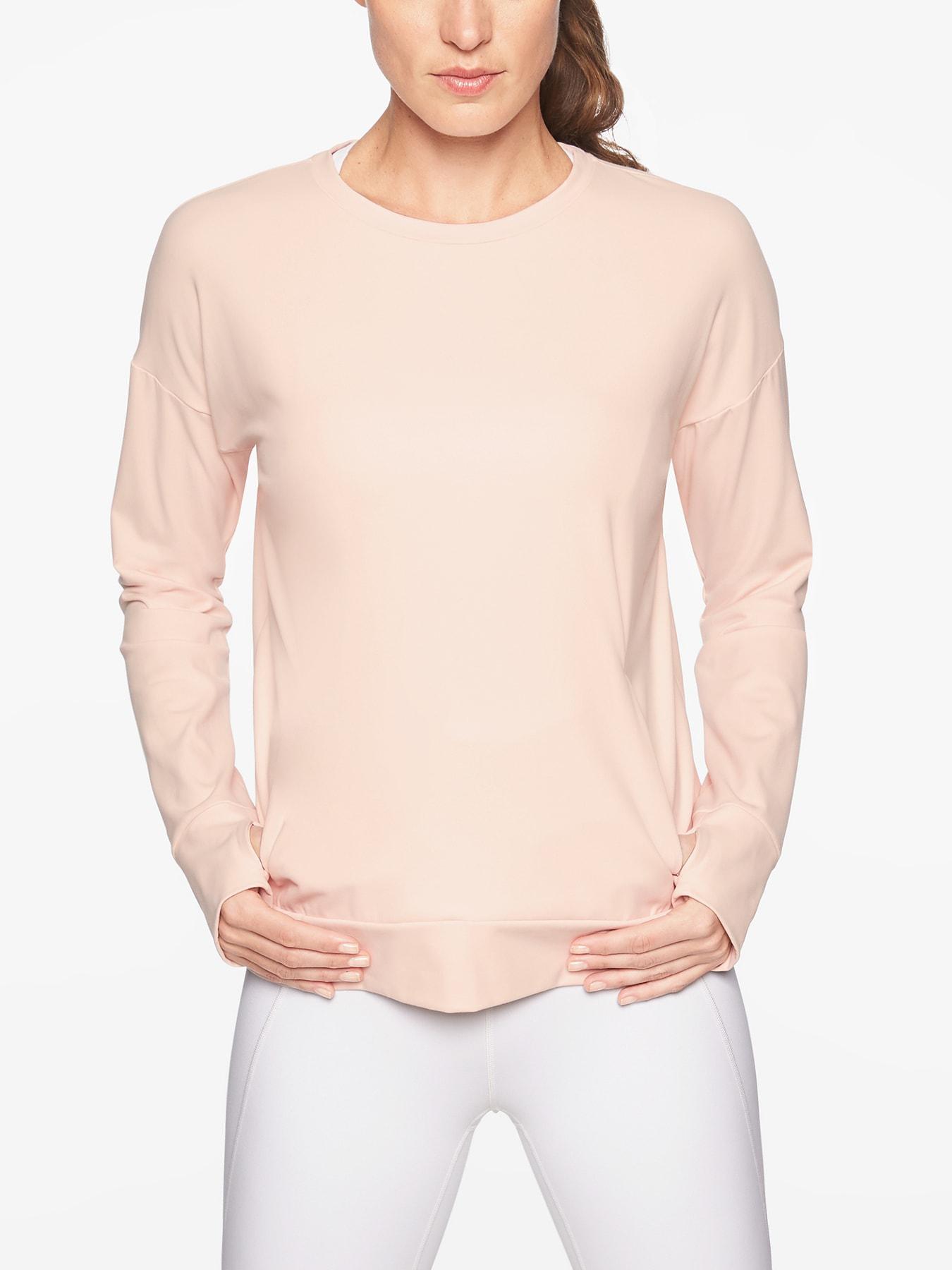 cf3f980548 Athleta Inversion Sweatshirt in Pink - Lyst