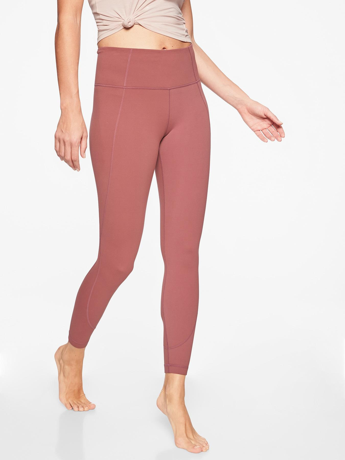 627983a0b1f57e Athleta Salutation 7/8 Tight In Powervita in Red - Lyst