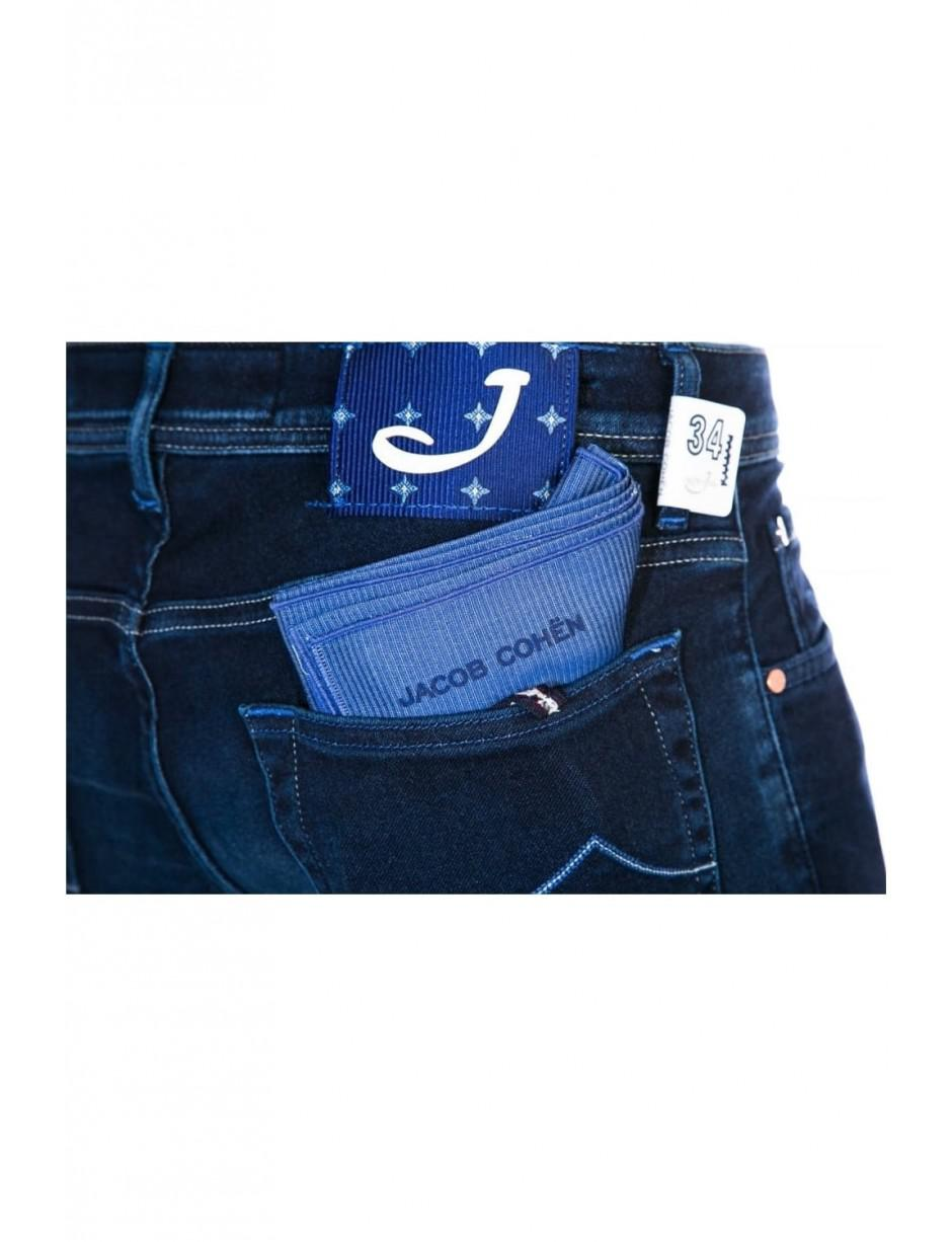 9986a169 Lyst - Jacob Cohen Men's 0973-001 Silk Badge Blue Jeans in Blue for Men