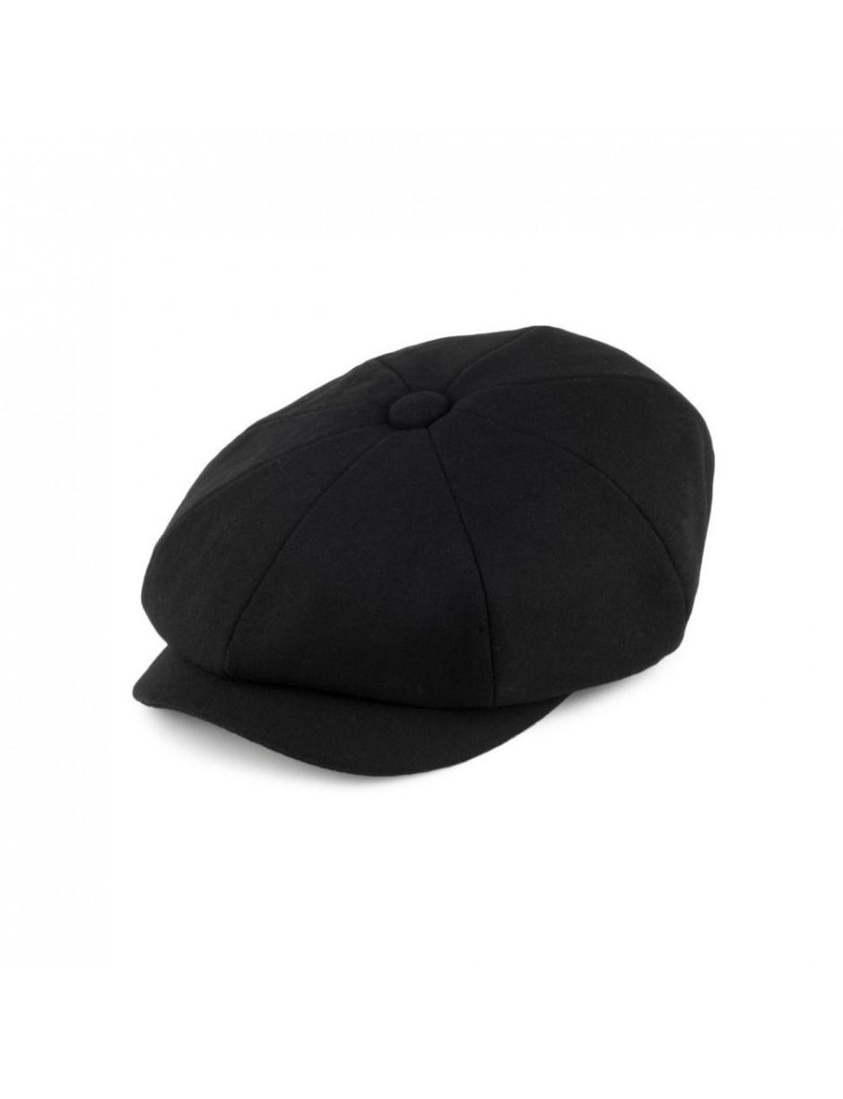 776ecaf5af3 Barbour Melton Baker Boy Flat Cap in Black for Men - Lyst