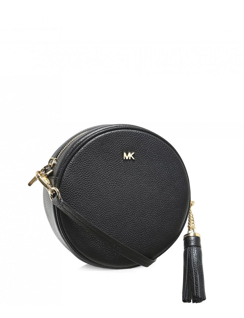 fd970fed16732d MICHAEL Michael Kors Pebbled Leather Canteen Crossbody Bag in Black ...