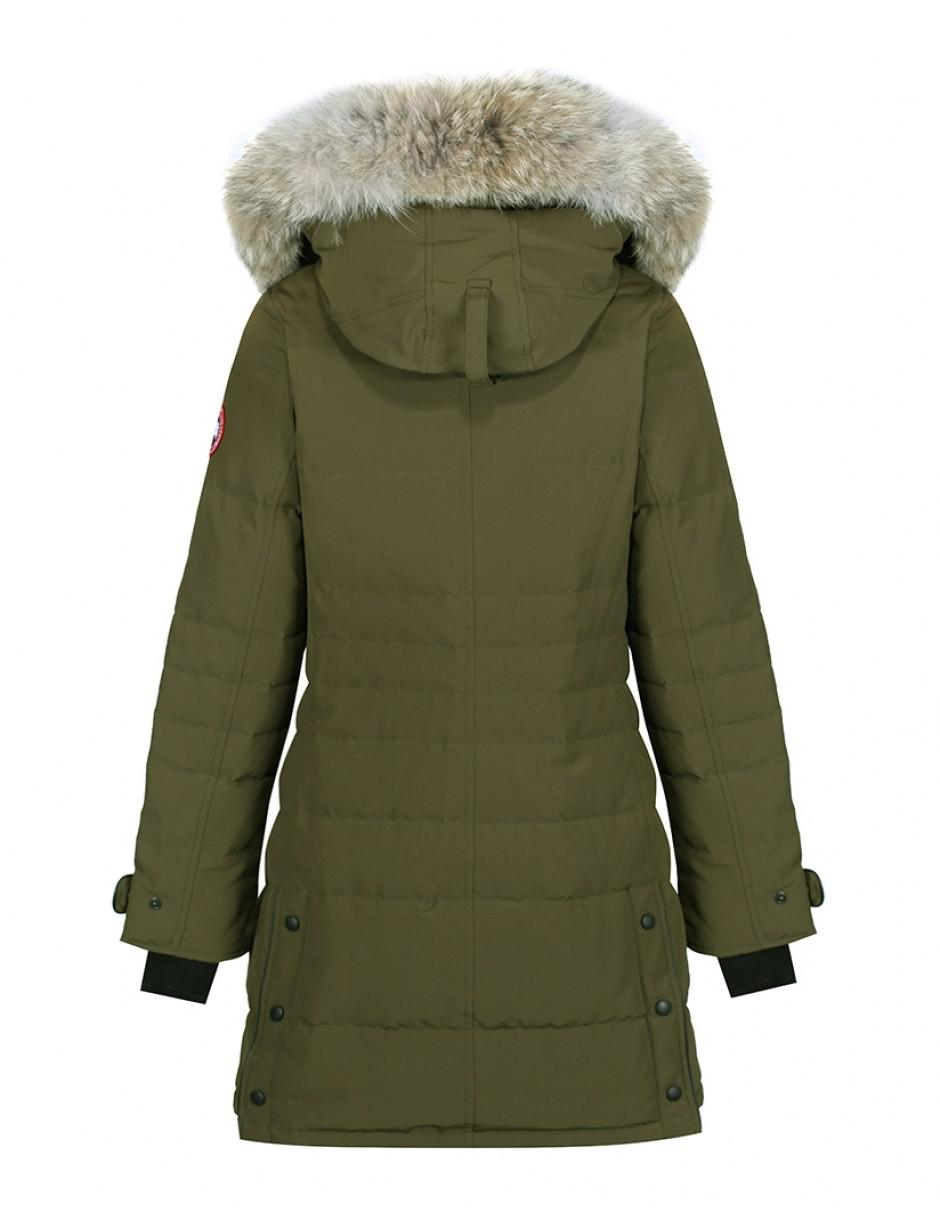 Canada Goose. Green Women's Lorette Slim Fit Parka