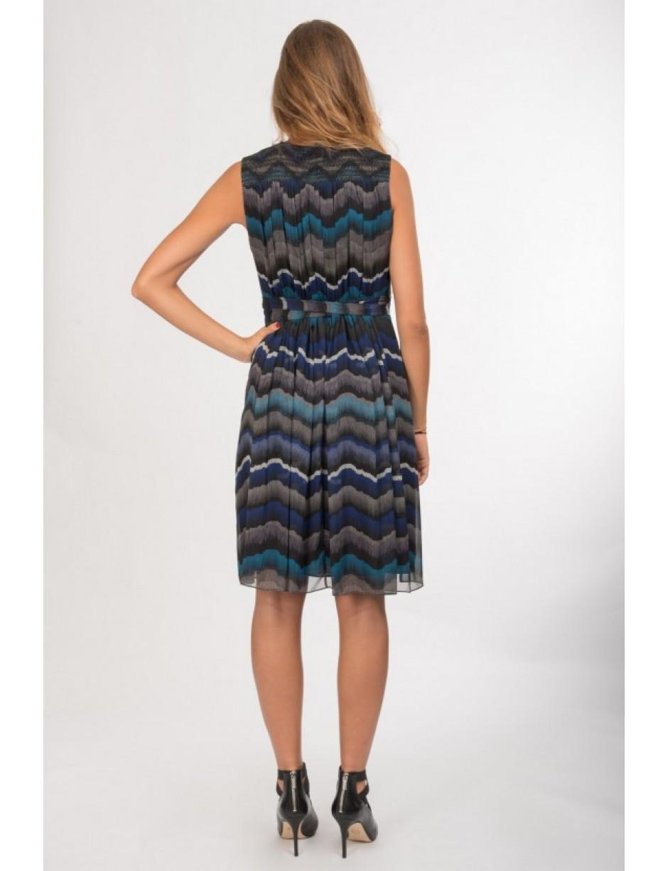 ac48aee7e5d4d Diane von Furstenberg Printed Dress In Blue Tones in Blue - Lyst