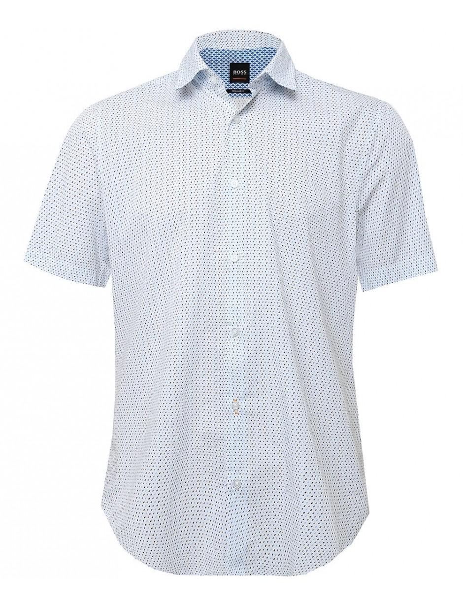 246dd724e BOSS Regular Fit Short Sleeve Rash Shirt in White for Men - Lyst