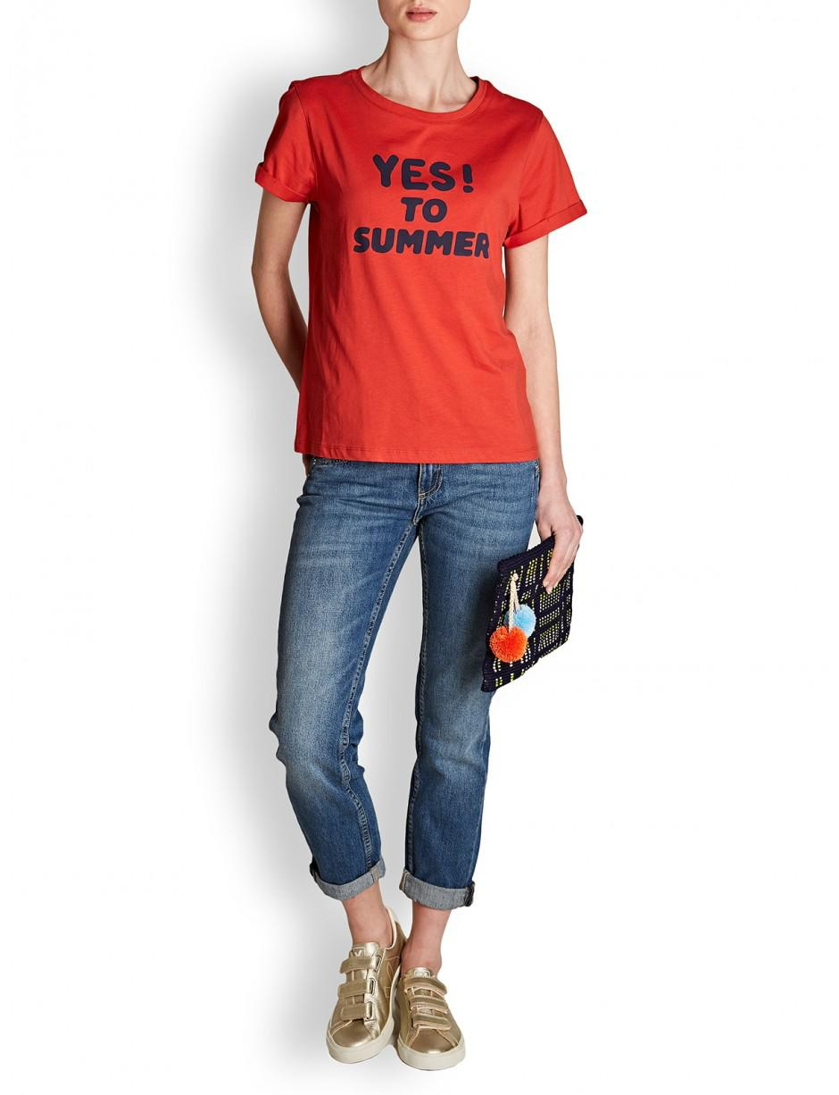 449decb81108 Lyst - A.P.C. . Yes To Summer Tee in Red