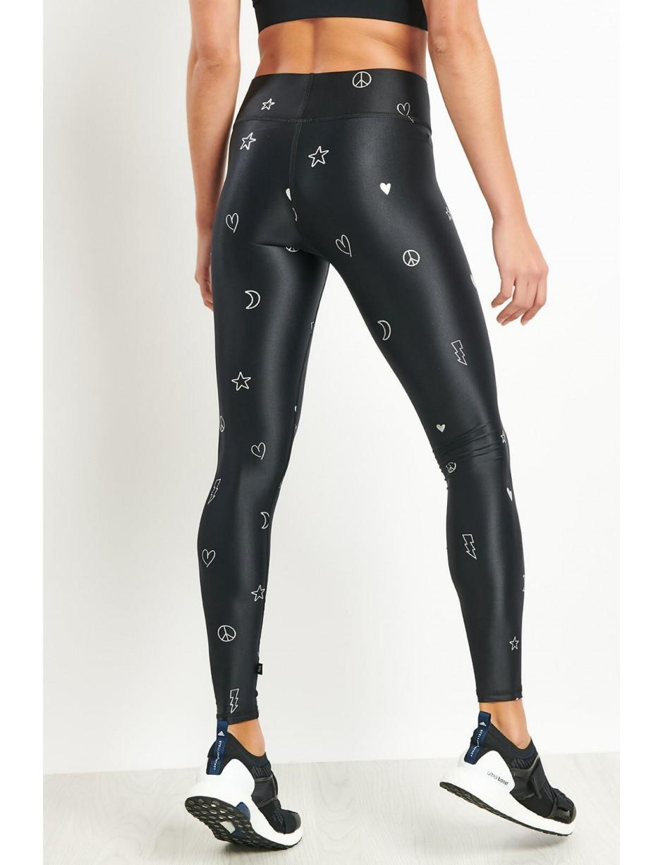 eda8090be48bb Terez Silver Doodle Foil Tall Band Leggings in Black - Save 17% - Lyst