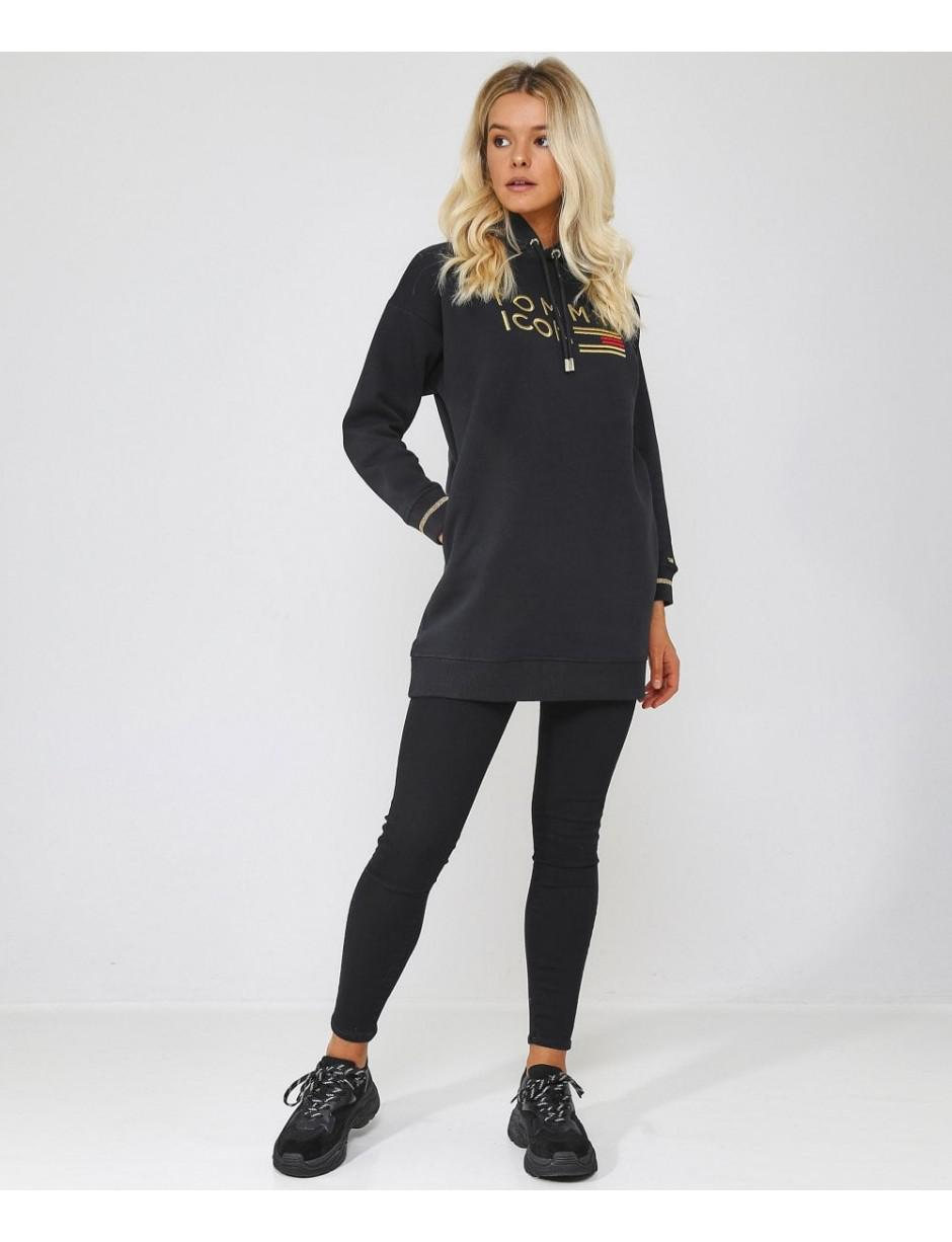 3f96a2f9 Tommy Hilfiger Icons Noelle Hoodie Dress in Black - Lyst