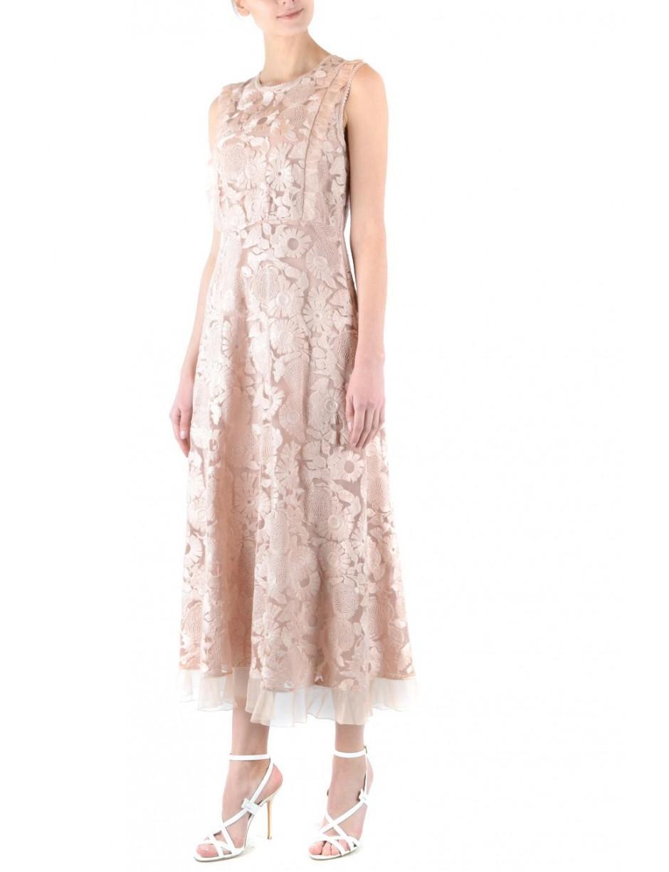 c0fe4e46e80 Lyst - RED Valentino Midi Dress In Pink in Pink