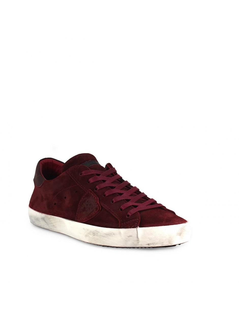 Lyst - Philippe Model Paris Mixage Burgundy Sneaker 41 in Red for Men bdc7f3cf1