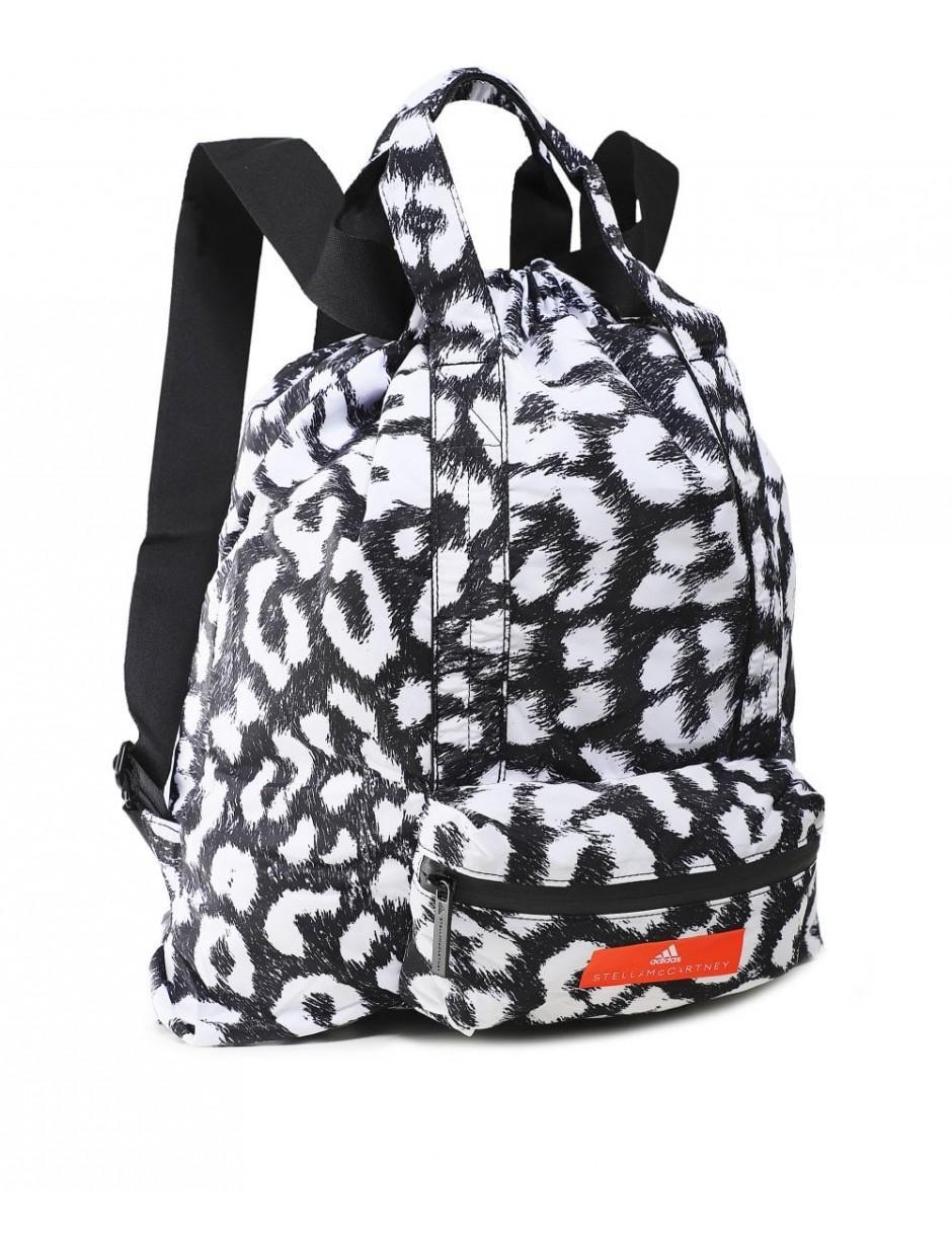 14a4822ece32 Lyst - adidas By Stella McCartney Adidas By Stella Mccartney Leopard Print Gym  Sack in Black