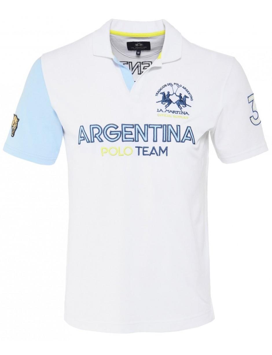b6dc8d98 Lyst - La Martina Open Collar Luke Polo Shirt in White for Men
