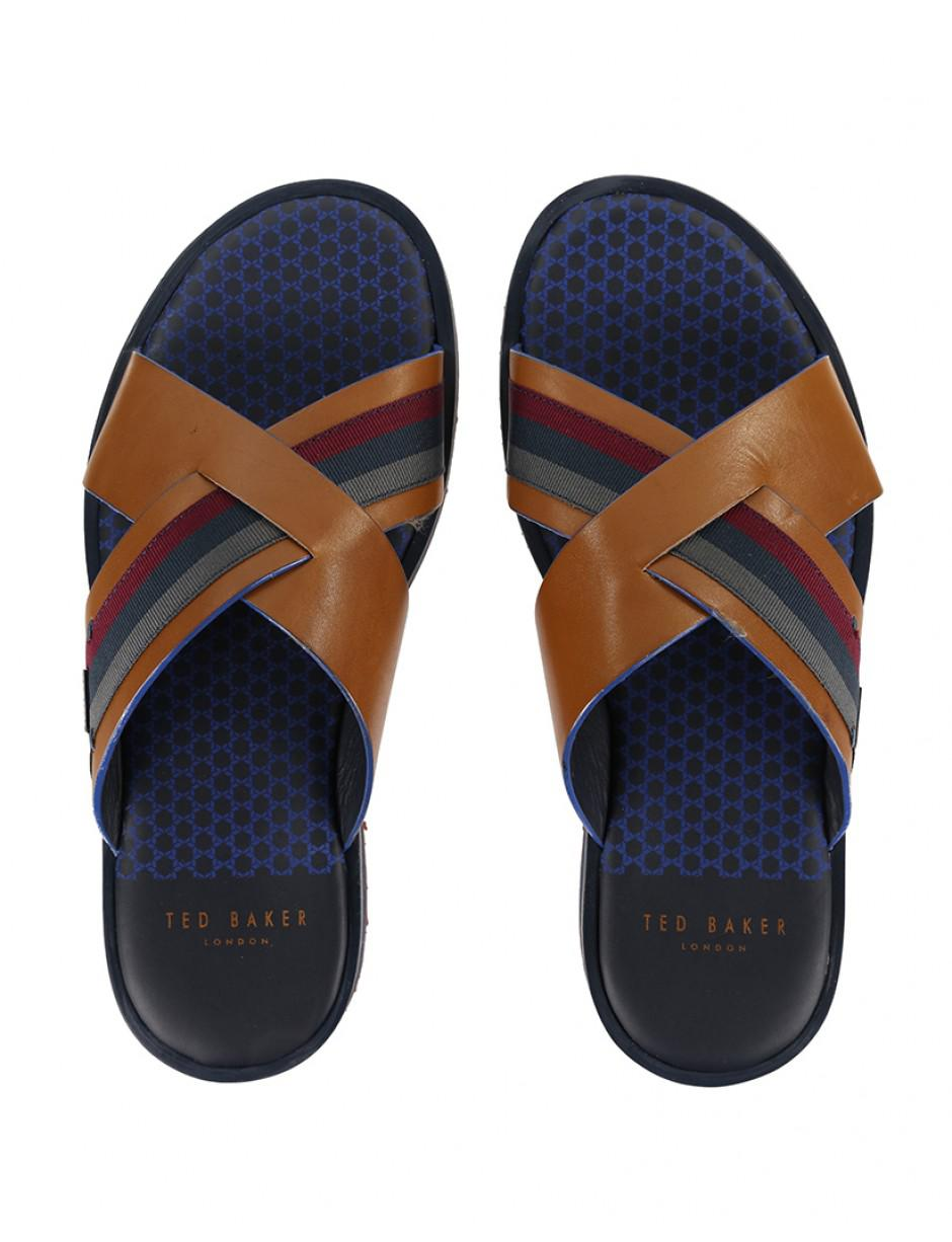 1cd21a68b Ted Baker Men s Farrull Cross Over Sandals in Brown for Men - Lyst