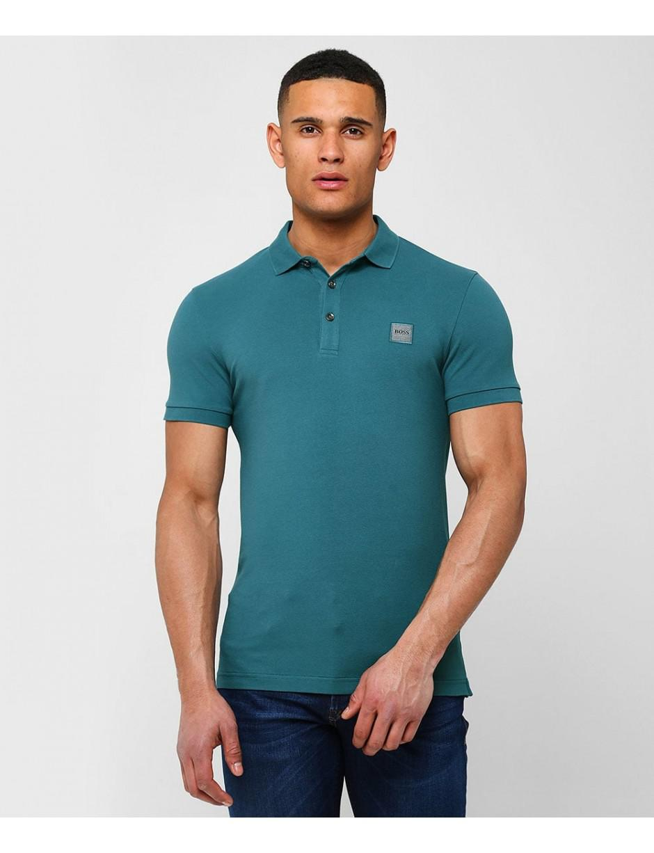 19c0b4490 BOSS Slim Fit Passenger Polo Shirt in Green for Men - Lyst