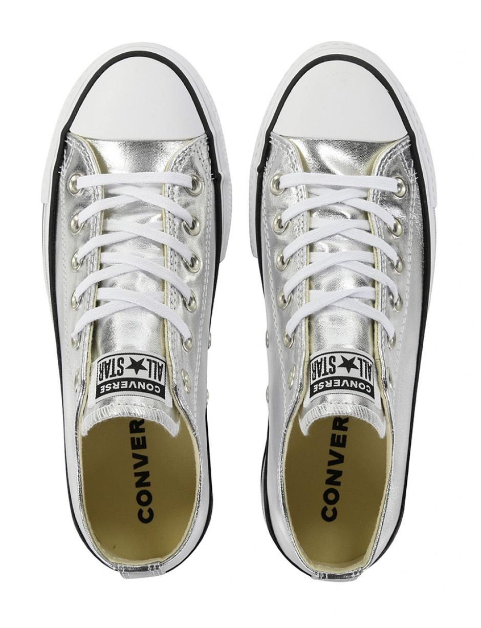 1353aece6695fc Converse Chuck Taylor All Star Lift Clean Ox Metallic Canvas Shoes ...