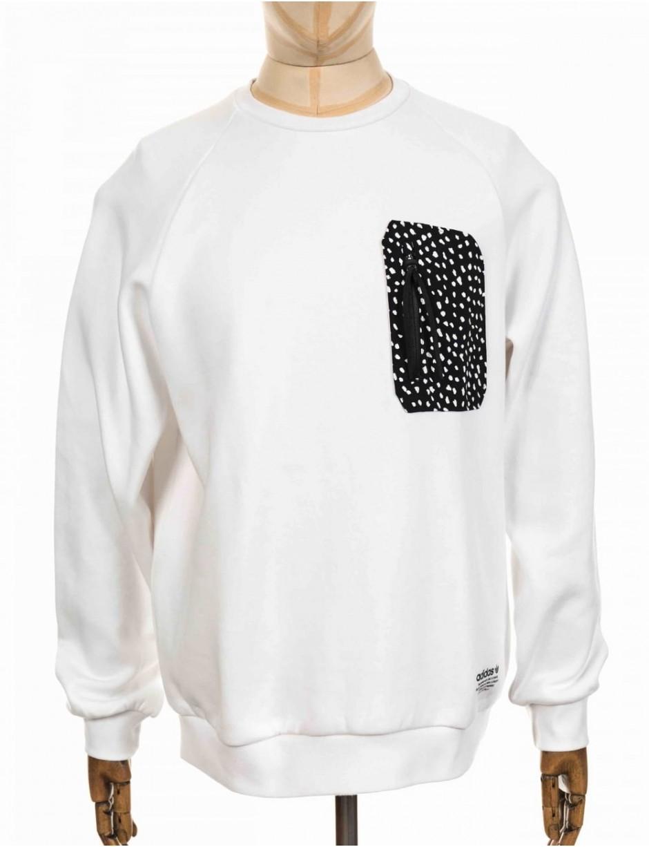 8e971fdc28304 adidas Originals Nmd Pocket Crewneck Sweeatshirt in White for Men - Lyst