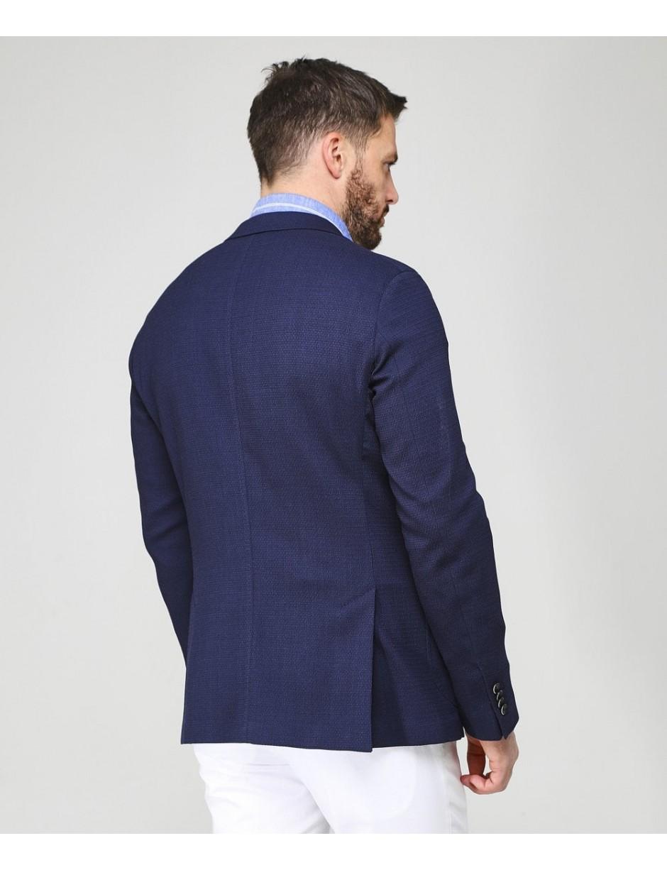 7de011e77 Baldessarini - Blue Textured Virgin Wool Blend Seba-1 Jacket for Men -  Lyst. View fullscreen