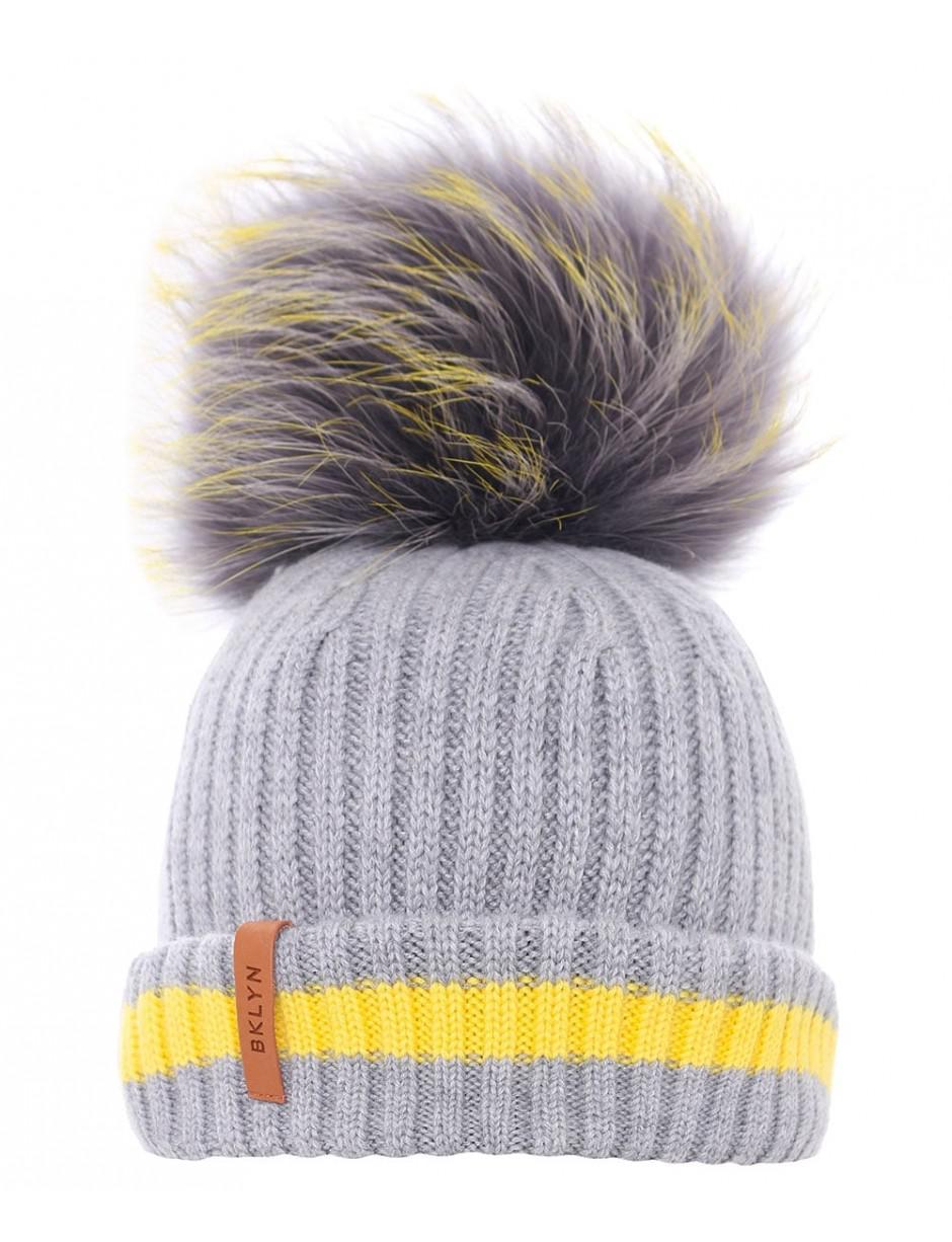 c66b94d7685 Lyst - Bklyn Merino Wool Beanie Hat in Gray