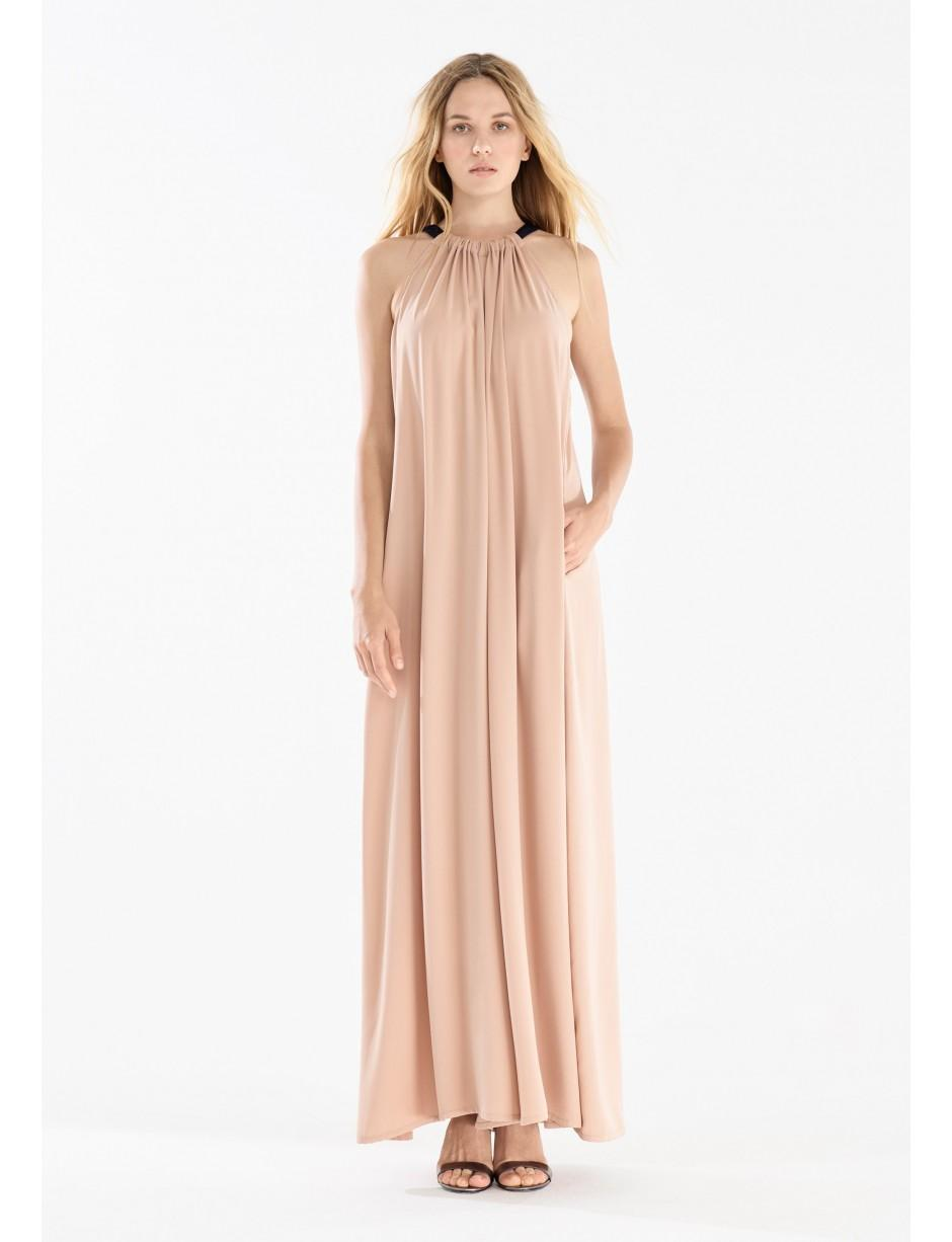 65a22f26ce Paisie Two Tone Halterneck Jumpsuit With Pastel Belt (with Faux Leather Belt)  In Blush And Navy in Blue - Lyst