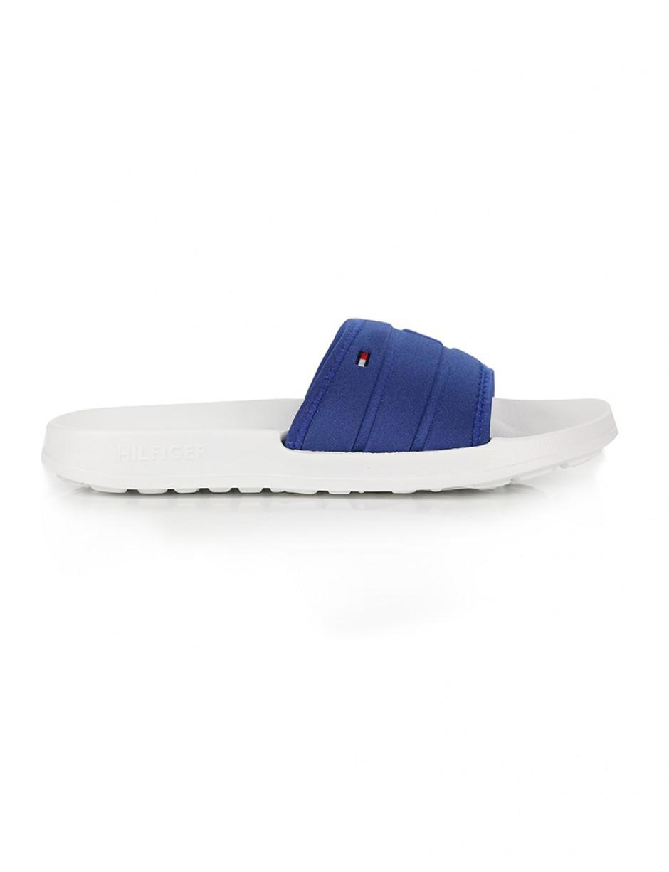 217a626ab1d9 Lyst - Tommy Hilfiger Corporate Flag Pool Slide Beach Shoes in Blue ...
