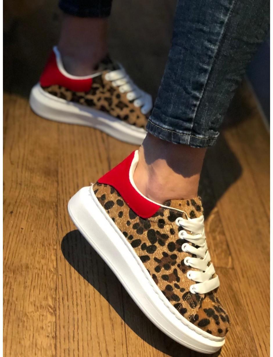 9f9d565e11b1 Bodega. Women s Leopard Print Trainers