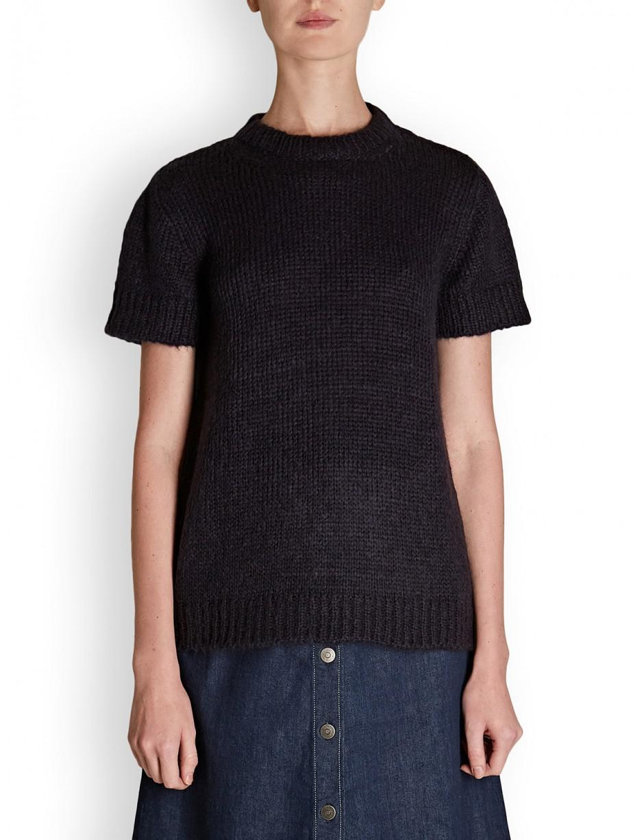 e9d5135ceda9 Lyst - A.P.C. . Dorothee Short Sleeve Knit in Blue