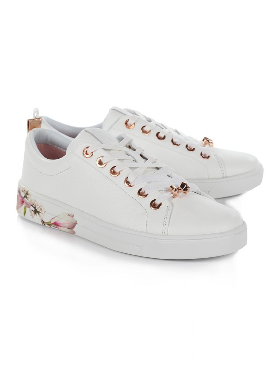 Big Discount Cheap Online With Mastercard Ted Baker Kelleip Leather Floral Placement Trainer 3fUuRKVy