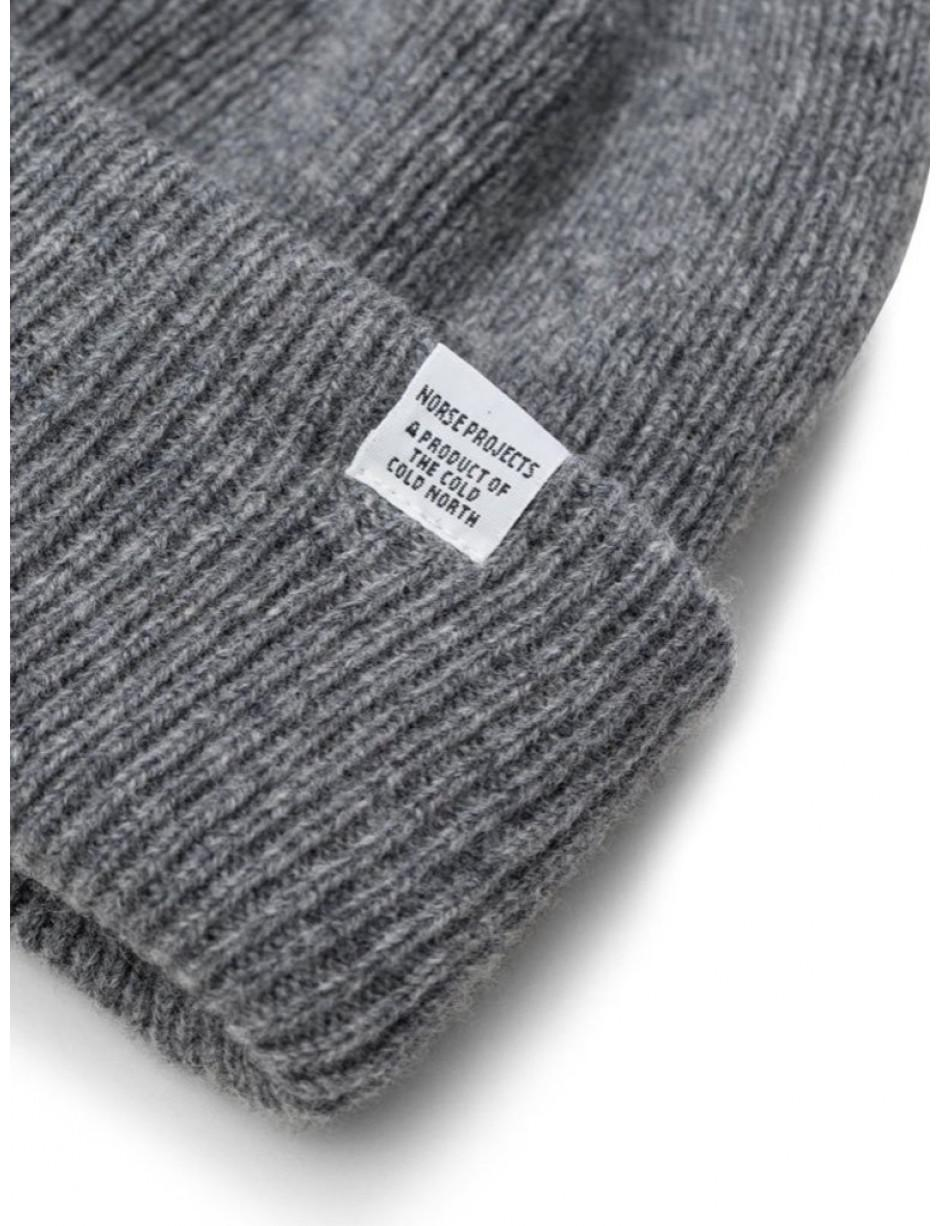 7a514876279 Norse Projects Norse Beanie In Light Grey Melange in Gray for Men - Lyst