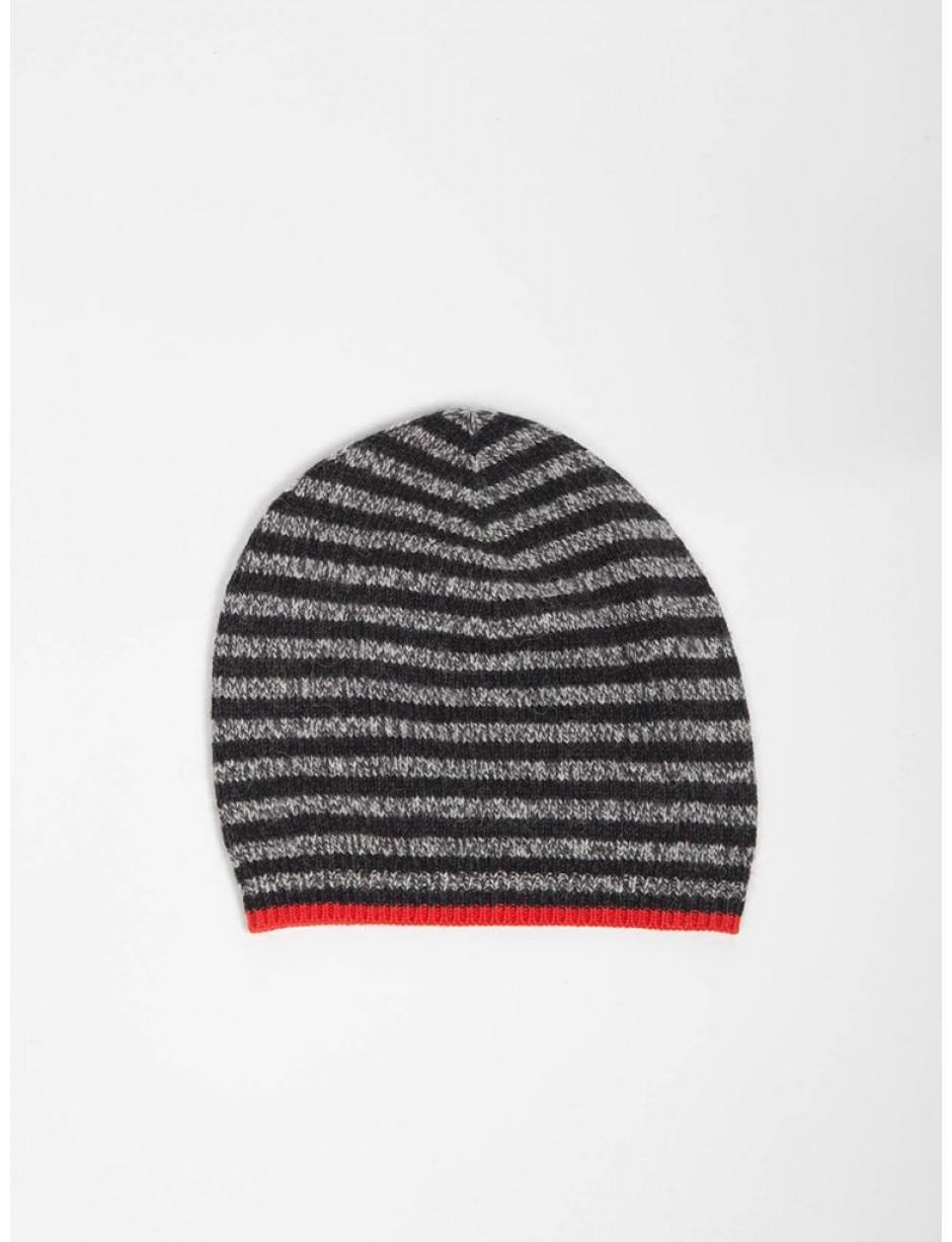 df9992265a2 Bellerose Gyha Stripe Hat In Charcoal