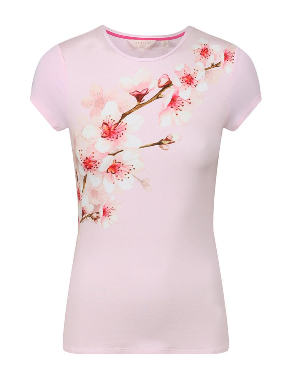 b41fffb7901db7 Ted Baker Women's Bluuma Soft Blossom Fitted T-shirt in Pink - Lyst