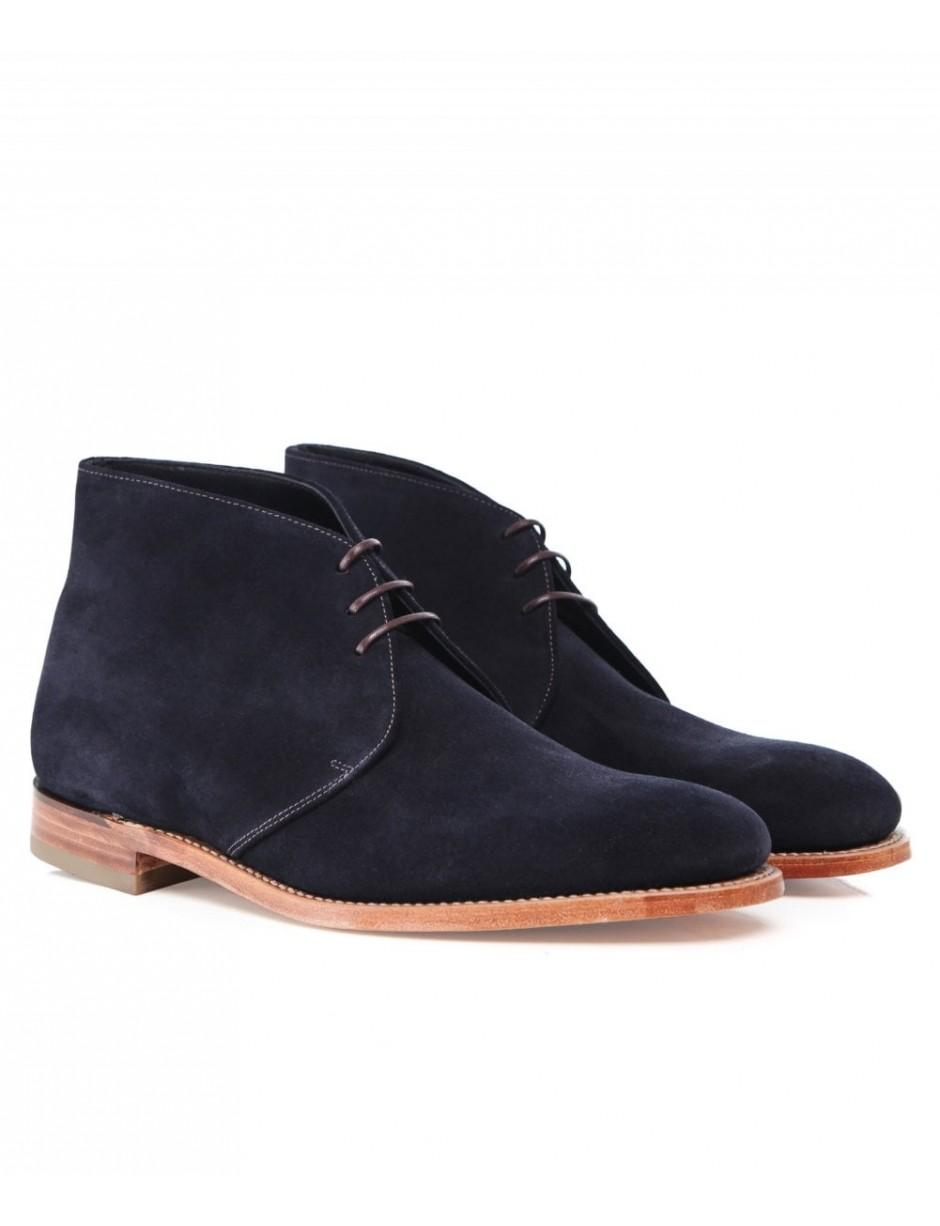 b10dd413de12c Lyst - Loake Suede Boughton Chukka Boots in Blue for Men