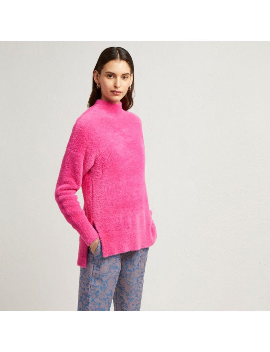 Edith Side Connection Pink Split French Jumper In Lyst tqER77