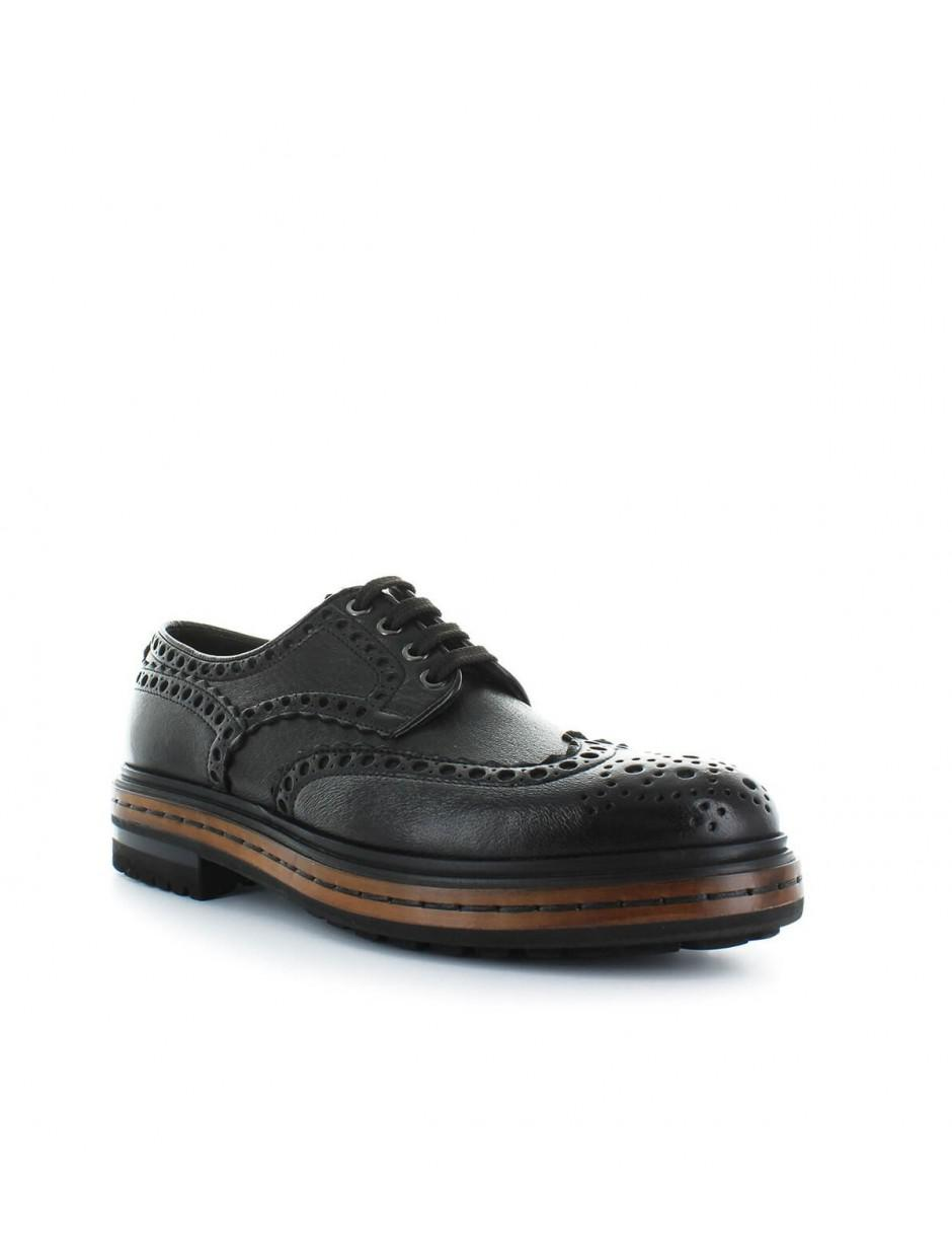 b18e3a68b3c737 Lyst - Santoni Dark Brown Leather Derby Lace Up 41.5 in Brown for Men