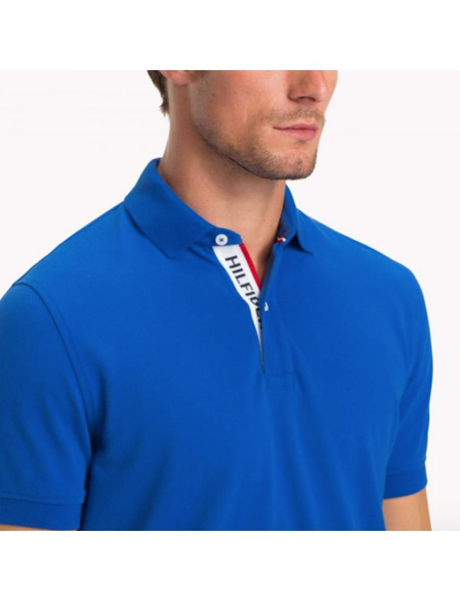a533a1b52 Lyst - Tommy Hilfiger Placket Polo Shirt Blue in Blue for Men