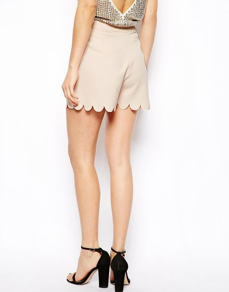 Scallop Hem Shorts Asos Shorts With Scallop