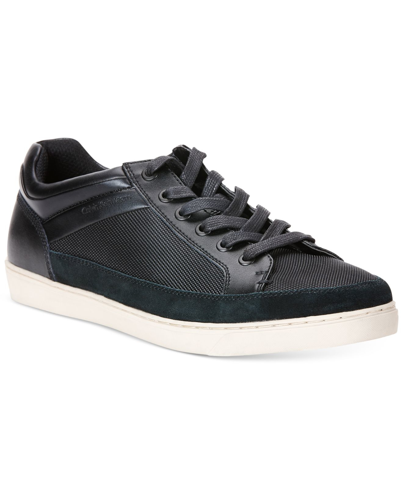 calvin klein jeans zal sneakers in black for men save 26. Black Bedroom Furniture Sets. Home Design Ideas